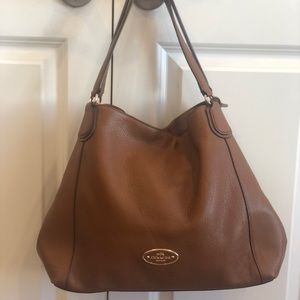 Coach Edie Shoulder bag in Saddle color